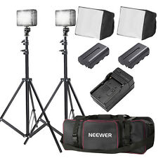 Bestlight Double LED-204  Video Light Kit with Large Bag for Canon, Nikon DSLR