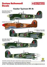 Techmod Decals 1/24 British HAWKER TYPHOON Mk-Ib Fighter Bomber Part 1