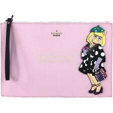 Disney Kate Spade Miss Piggy Britta Pink Leather Envelope Clutch Purse Handbag