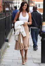 £7,940 Hermès skirt in fine goatskin suede beige leather Hermes F 38 UK 10 US 6