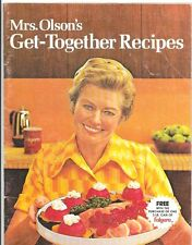 Mrs Olson's Get-Together Recipes Folgers Coffee 1973 Cookbook