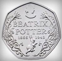 Beatrix Potter Peter Rabbit , 2015,2016,2017, UK 50p Coins collection