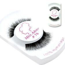 Miss Adoro False Eyelashes 100% Human Hair #76 / USA SELLER