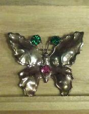 Vintage Copper Butterfly Pin Brooch