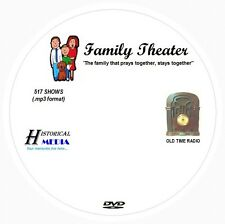 FAMILY THEATER - 517 Shows Old Time Radio In MP3 Format OTR On 1 DVD