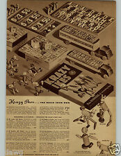 1942 PAPER AD Building Toy Krazy Ikes Ball-And-Socket Wood Bead Mickey Xylaphone