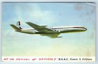 Vintage Postcard B.O.A.C. Comet 4 Jetliner Posted From India to Oregon