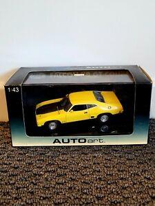 Autoart 1/43 Ford Falcon XB GT Coupe Yellow Black In Box