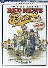 BAD NEWS BEARS dvd 2005 Billy Bob Thornton SPECIAL COLLECTOR EDITION