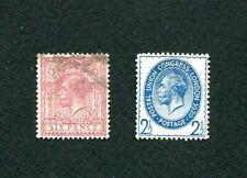 Great Britain Scott Nos. 195 & 208 Used > George V >