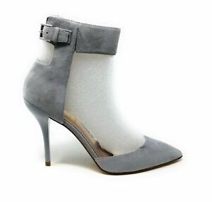 Joan & David Collection Womens Arant Pointed Toe Dress Pump Grey Suede Size 6.5