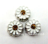 10pcs sunflower Floating charms For Glass living memory Locket FC526