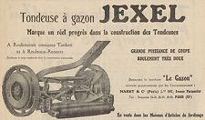 Y8914 Tondeuse à gazon JEXEL - Pubblicità d'epoca - 1929 Old advertising