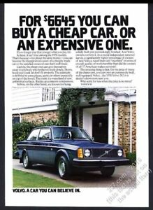 1978 Volvo 242 DL blue coupe car photo vintage print ad