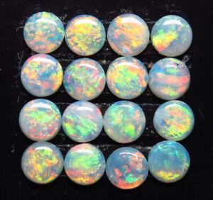 Australian White / Precious Opal 4mm Round 16 Stone Parcel Natural Stone