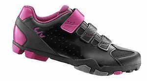 NEW Liv Fera Black Fuchsia Pink Off Road Cycling Shoe Women's Size EU 42 UK 8.5