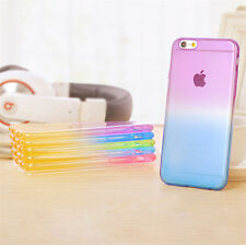 """Ultra Slim Colorful Rainbow Gradient Clear Soft TPU Case For iPhone 6S 4.7"""" inch"""