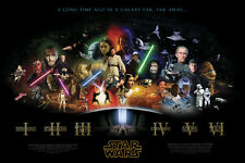 Movie POSTER Star Wars Saga all major characters collage 20x30 #003