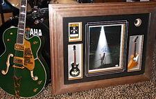 U2 The Edge signed autographed guitar display Framed pass guitar pick Psa Dna