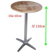 Outdoor Aluminium / Timber Round 60cm / Height 110cm Cafe Bar Table (YT8)