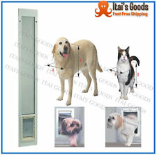 Patio Panel Pet Door Dog Cat Sliding Glass Aluminum Cat Flap Exterior Doggie