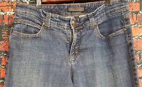 NINE WEST Women's Mid Rise Crop Jeans Size 12/30 Stretch Blue Medium Wash