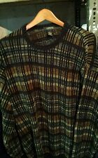 Cambridge Classics crewneck sweater Brown Green Black acrylic XL  men