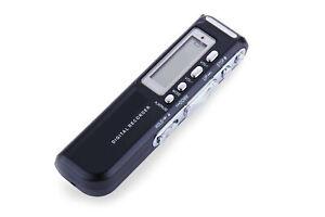 Mini registratore vocale 8gb portatile batteria USB digitale telefonico mp3
