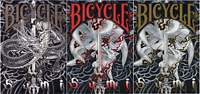3 Different Decks of Bicycle Branded Sumi Limited Edition Playing Cards - USPCC