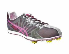New Asics Women'sSpivey LD Running Spikes Neon Pink,Titanium,and Silver Size 6