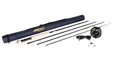 """Airflo 8ft 6"""" 4/5 Fly Fishing Kit Rod Reel Float Line Fly Box & Tube Sunglasses"""