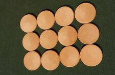 Lot of 12 wood circles Great for crafts pins or ready to paint