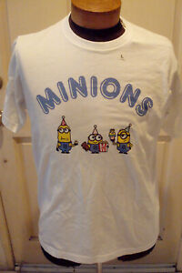 Uniqlo  UT X Despicable Me Party Minions  T-shirt Size Large White New Tags