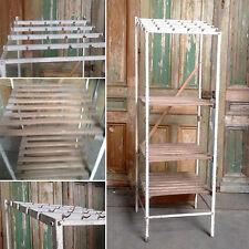 etagère de boucherie en  fer cassier bois hêtre massif porte crochet .XX siècle.