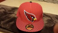Arizona Cardinals NFL New Era 59FIFTY 2017 Sideline Official Red  Hat 7 1/8 New
