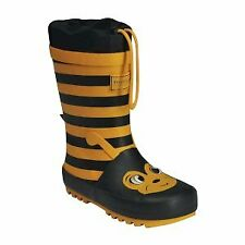 Regatta Kids Mudplay Junior Wellington Boots with Drawcord Adjuster - Yellow Bee