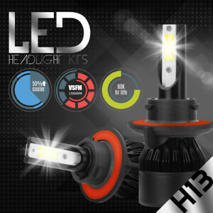 488W 48800LM CREE LED headlight Kit COB H13 9008 Hi/Lo beam 6500K White bulbs