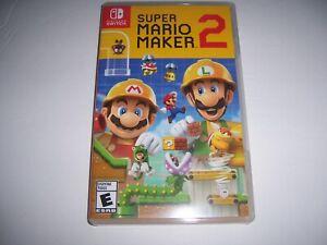 Original Box Case Replacement Nintendo Switch for Super Mario Maker 2 Two