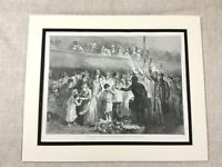 Antique Print Victorian Workhouse Feeding the Poor London 19th Century Original