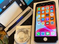 Apple iPhone 7 (128gb) Cricket Wireless (A1778) Jet Black {iOS13}100% Apple-Care
