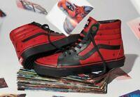 Vans x Marvel DEADPOOL Sk8-Hi Leather Hi Top Sneakers Men's Size 7.5 Women's 9
