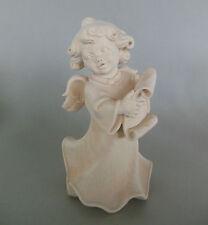 Engel mit Notenblatt ca. 20 cm hoch, Holz geschnitzt natur Sonderpreis Maserung