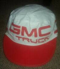 Vintage GMC Truck Truckers PAINTERS HAT Cap Red/White 1980s ANTIQUE DEALER PROMO