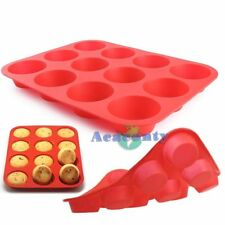 2 Stück 12er Silikon Muffin Backform Kuchenform Muffinform Muffinförmchen Rot