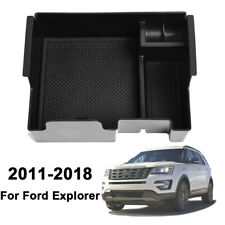 For Ford Explorer 2011-2018  Center Console Organizer Holder Armrest Storage Box