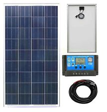 100w Poly Solar Panel Battery Charging Kit Charge Controller Boat Caravan HomeK1