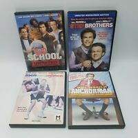 Will Ferrell Lot 4 DVD Movies: Men Seeking Women, Anchorman, Old School, Step Br