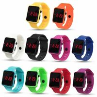 Digital Watch Fitness LED Date Display Kids Teens Silicone Bracelet Watches
