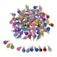 50 Pack Crystal Dangle Charms Pendants Glass Drop Beads Handmade Dangle Bead