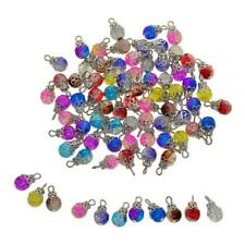 50 Pack Crystal Dangle Charms Pendants Glass Drop Beads Handmade Dangle Bead